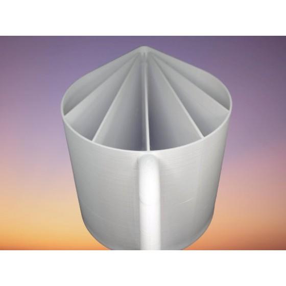 Tasse cup de 60cl  5 canaux pour peinture acrylique liquide fluide,  pouring ou   L12 L16 Ht9