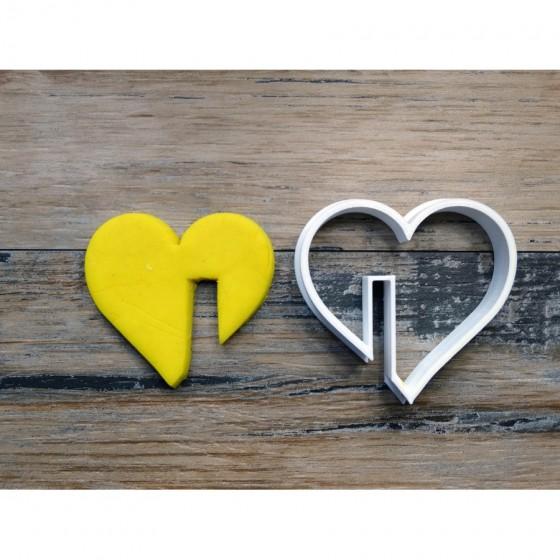forme Coeur pour tasse - Emporte-pièce, sablé, biscuit,-Décoration gateau-Fait maison-3D L5 L5,5 Ht1,5