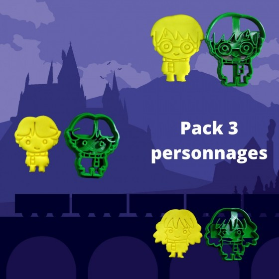 Pack 3 HARRY HERMIONE RON -...